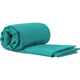 Sea to Summit Silk/Cotton Travel Liner Traveller with Pillow Slip sea foam